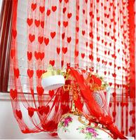 A paragraph romantic wedding curtain curtain line Xiaotao heart / love upscale decorative curtain line curtain entrance / off