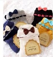 New design laciness gentlewomen elegant bowknot  pure cotton short cotton women socks