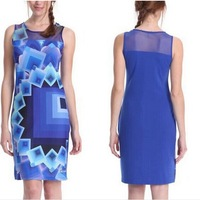 Drop Ship 2014 New Desigual Women Clothing Fashion Bodycon Summer Casual Dresses Lady Vestidos