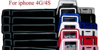 New Sport Armband Bag For iPhone4G Colored Rubber Running Sports Mobile Phone Arm Band Armlet For iPhone 4G 4S FREE SHIPPING