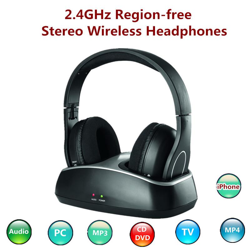 2014 New Digital 2.4GHz region-free technology wireless stereo game headphones DJ go pro headset with FM Scan Radio(China (Mainland))