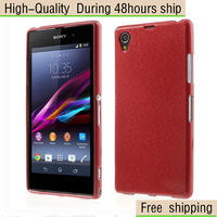 High Quality Brush Texture TPU Skin Case Cover for Sony Xperia Z1 L39h C6906 Free Shipping UPS DHL EMS HKPAM CPAM