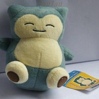 2014 New About 15cm 6''Pokemon Plush Toy Snorlax Plush  Soft Stuffed Animal Doll Kid Gift KaBiShou PC1585 Free Shipping