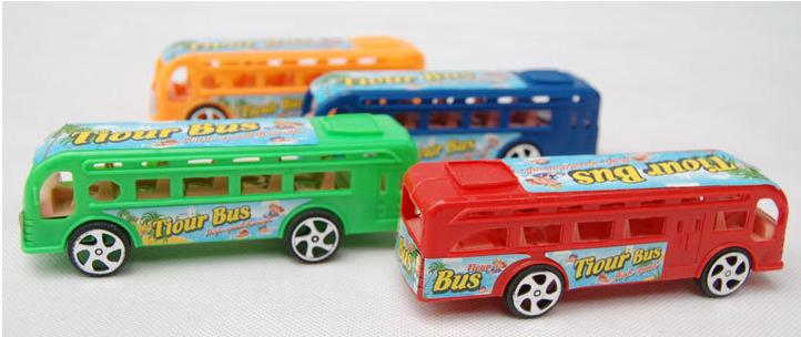 4pcs pullback toys tour bus model gift for kids(China (Mainland))
