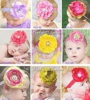 2014 New 9 Styles Baby Girl Big Flowers Headband Children Hair Acessorios Para Cabelo Kids Headwear Photography Props Hair Bows