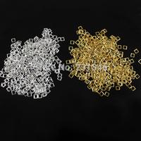 500pcs/pack Gold Silver Metallic Square Punk Rivet Studs 3D Nail Art Decoration Rhinestones DIY Charm Tips Cellphone Manicure