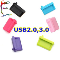 Wholesale 100pcs/lot Silicone Notebook USB 2.0 3.0 dust plug laptop general dustproof plug usb dust plug Suitable cap