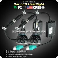 2pcs/lot CREE 48W 4400LM 5000K Car LED Headlight Kit H4 H13 9004 9007 Hi/Lo DRL Lamp Bulb