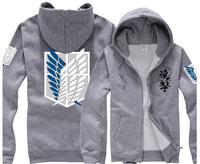High quality attack on titan thin autumn winter anime Sweatshirt jacket men boy unisex hoody coat