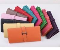 Women Card Package Wallet Classic genuine leather women's wallet long design multi card holder tri-fold wallet Women day clutch