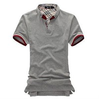 New 2014 Casual Slim Solid Men Polo Shirts/Fashion Summer Short Sleeve Cotton color Polo Shirts Men/Brand Polo Shirts For Men