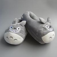 My Neighbor Totoro Figure cartoon plush slipper 11inch Totoro Slippers Gray Color
