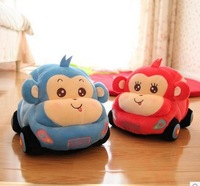 Hot sell Cartoon animal car plush toy doll beetle car child boy birthday gift,free shipping,high quality,boys plush toys