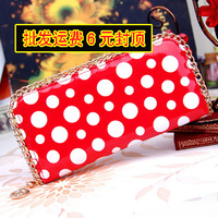 Girls Purse Qimian women's long design wallet shiny wallet multi card holder large capacity zipper coin purse mobile phone