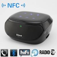 New NFC HIFI Wireless Bluetooth Speaker Portable Speaker with FM Radio Loud Speaker Mini USB Music Speaker Sound Box Boom Box