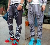 2014 New High quality hip hop baggy pants fashion joggers men casual sports harem pants mens drop crotch pants man sweatpants
