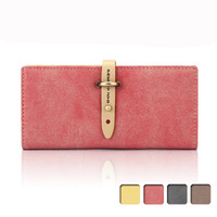 Women Wallet Card Package 2013 gentlewomen drawstring scrub long design wallet individuality brief vintage women's wallet