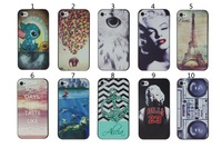 20pcs/lot New arrival 20 designs fashion printing case for iphone 5 5s with tracking NO, free shipping