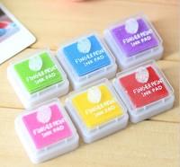 new Free ship 1lot=5sets/korean stationery kawaii Lovely color ink Seal companion DIY inkpad school supplies finger print inkpad