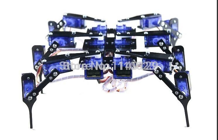 Geeetech New Product !!! 6 Feet spider Robot - 12DOF Framer Battery Box flexible control Free Shipping(China (Mainland))