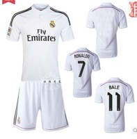 Free shipping + + 2014 new real Madrid jersey