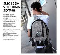Free shipping High quality fashion canvas dual function men travel bag Shoulders canvas backpack men messenger bags men bag