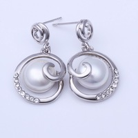 2014 new gold earrings pearl jewelry fashion earrings for women 2014 brand earring rhinestone stud earrings