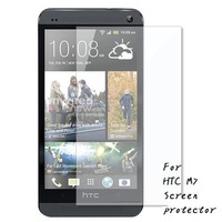 100pcs/lot Screen Protector Clear Protective Films For HTC ONE M7 Screen protector Films free shipping