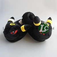 Umbreon Slipper Pokemon Eevee Slippers Cute Plush Doll Slippers 28cm Wholesale and Retail