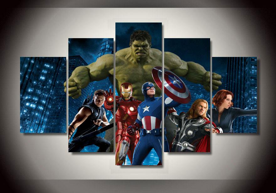 Encadr 233 e imprim 233 the avengers film groupe peinture sur toile de