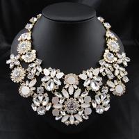 Wholesale New Arrival Aliexpress Women Fashion Brand Jewelry Pendant Bijoux Big Chunky Exaggerate Choker Statement Necklace