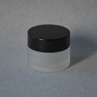Free Shipping- 15g glass bottle,cosmetic jar,frosted glass cream jar