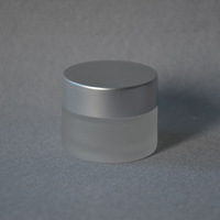 Free Shipping- 15g cosmetic bottle,frosted glass cream jar,cosmetic container