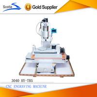 Free Shipping CNC 3040 5 Axis Table Column Type Engraving Machine, High-Precision Ball Screw CNC Router Engraver  Machine
