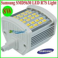 10pcs/lot R7S LED 8W Samsung SMD5630 78mm LED Bulb Corn Lamp AC100-277V 225degree Replace Halogen Floodlight Project Spot lights