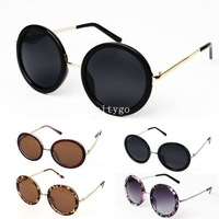 Fashion Unisex Women Fashion Retro Vintage Style Sunglasses Glasses Round Metal Frame 5 Color