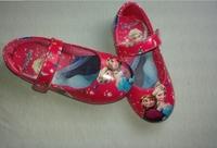 Retail   Elsa Princess Girls flat PU leather shoes Size 25-30 hot pink