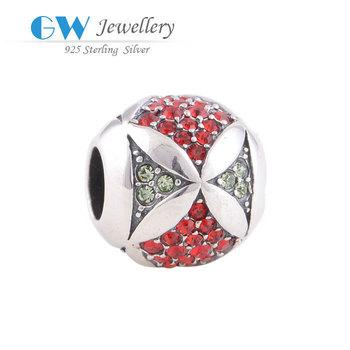 Superdeal радуга кристалл 925 стерлингового серебра ювелирные изделия подходит любовь ...