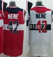 Washington #42 Nene Hilario Men's Authentic Home White/Road Red Basketball Jersey