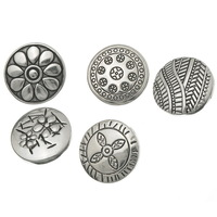 2014 New 10PCs Mixed Round Snap Buttons Pattern Carved Fit Snap Bracelets K01167 Free Shopping