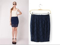 New 2014 Summer Women Fashion Lace Skirt Sheer Hollow Skirts Women Over Hip Sexy Short Dress Solid Mini Skirt For Lady
