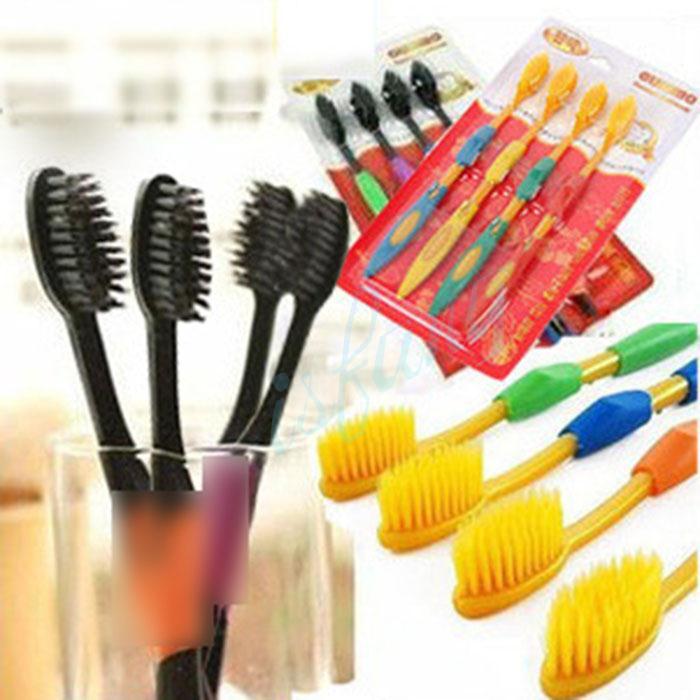 4PCS Set Superfine Travel Soft Bristle Nano Oral Hygiene Dental Care Premium Toothbrush Black Color(China (Mainland))