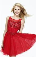 Fashion New Summer dress 2014 Sexy Backless High-Quality Short Red Evening dress Black vestido de festa party dresses gown E29
