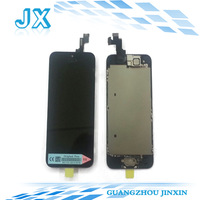 5pcs/lot  LCD display+Touch Screen Digitizer+Home Button+Frame+front camera full Assembly for Iphone 5S Replacements