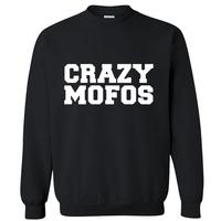 2014 autumn-winter European Style famous brand fashion music bank crazy mofos man hoodies sweatshirt sportswear moleton