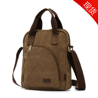 Shipping High quality new fashion Men's bags men Vintage Canvas casual Shoulder Messenger bag hasp cover bag travel military Bag