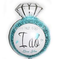 2014 New Design 50Pcs 40*60 cm Diamond shape Blue Foil Balloons Christmas helium balloons for Party Wedding toys Decorations