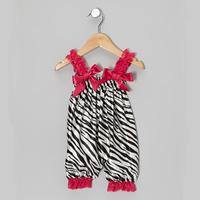 2014 new baby toddler summer lace straps Bubble bubble ruffle romper romper zebra stripes design Free Shipping