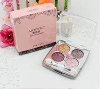 Wet shining four color baking powder earth/brown eye shadow - free shiping