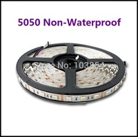 5050 Non-Waterproof LED Flexible Strip 60 Pcs / Meter input 12V Safe tape / Good Quality ! high brightness !